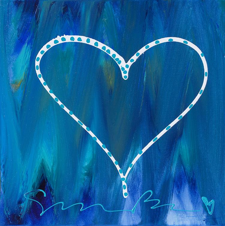 Love On An Ocean Of Blue Cushion