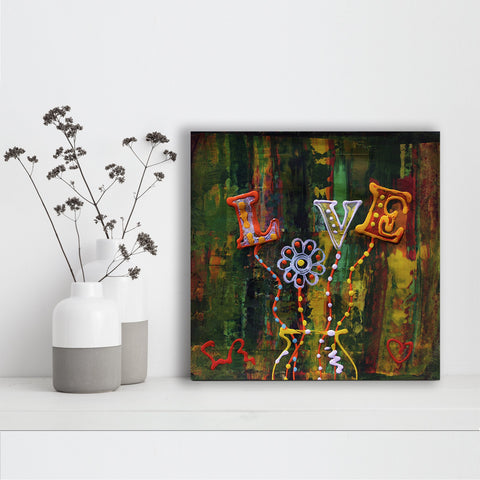 Vase of Daisy Love - Canvas