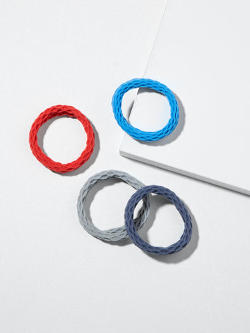 Rolled Mesh Hair Elastics - Pack of 4