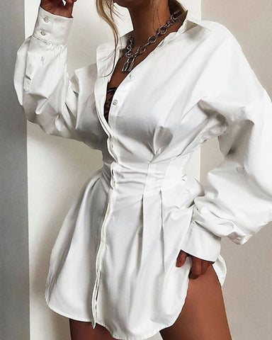Long Sleeve Casaul Shirt Dress