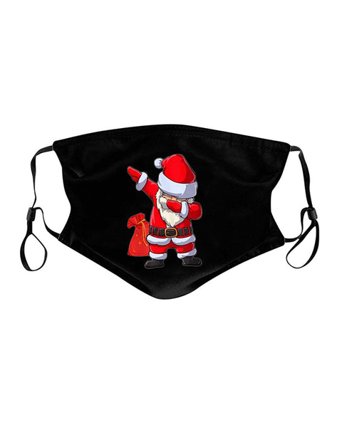 5PCS/Set Christmas Print Breathable Face Mask