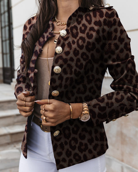 Leopard Long Sleeve Fitting Jackets
