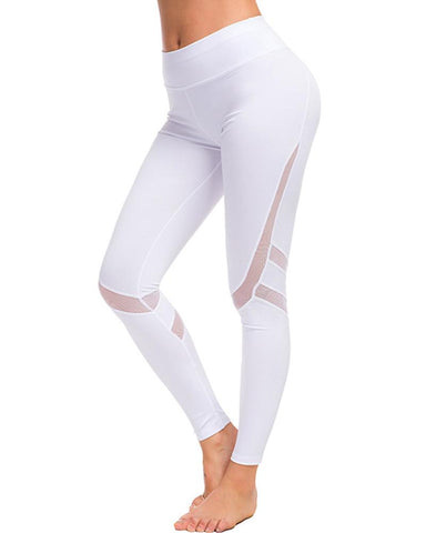 Mesh Skinny Yoga Fitness Pants
