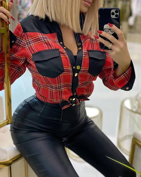Plaid Print Long Sleeve Casual Shirt