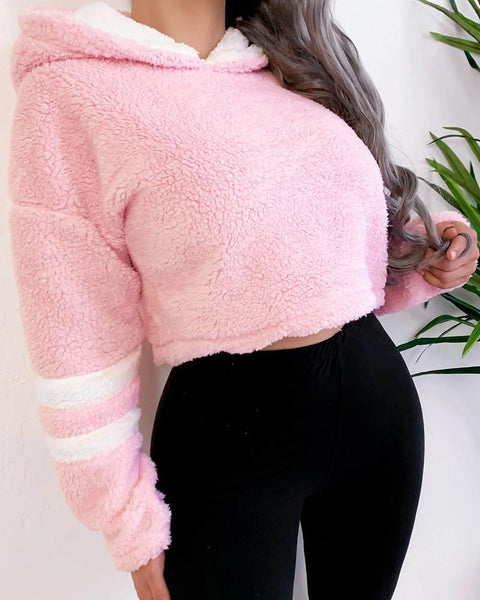 Striped Colorblock Long Sleeve Hoodies