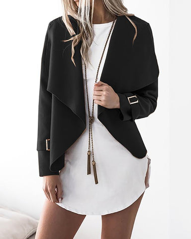 Stylish Solid Casual Cardigan Coat