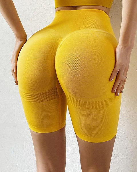 Solid Color Quick-drying Hit Lift Skinny Short Yoga Pants