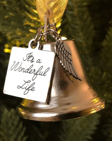 Christmas Ornament Angel Wings Bell