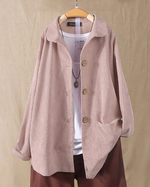Solid Color Long Sleeve Loose Coat