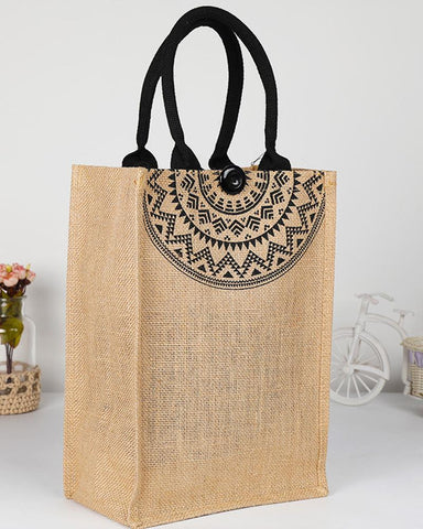 Burlap Shopping One-shoulder Tote