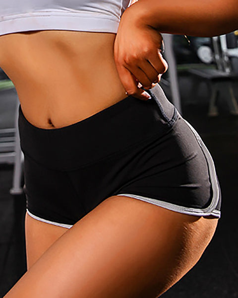 Contrast Binding Sporty Shorts