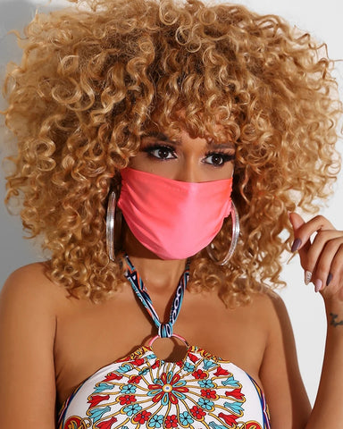 Solid Breathable Mouth Mask Washable And Reusable