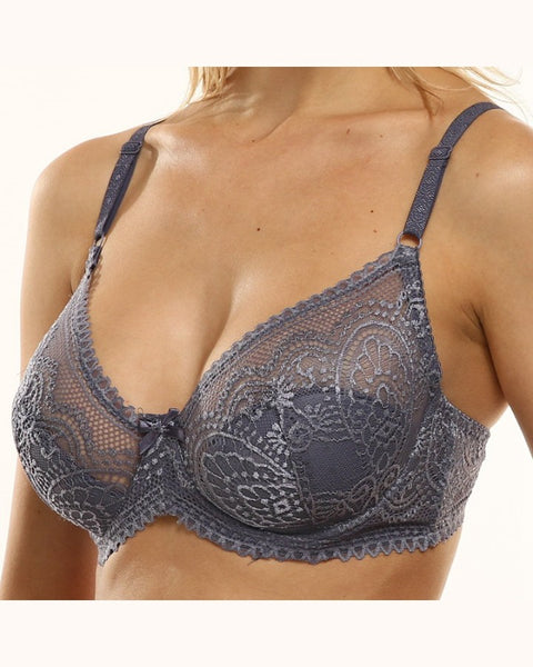 Solid Lace Strap 3/4th Coverage Bra