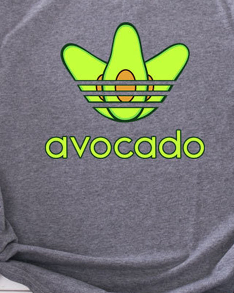 Avocado Printing Short Sleeve T-shirts