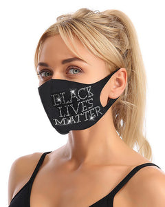 Lip Slogan Pattern Studded Breathable Face Mask