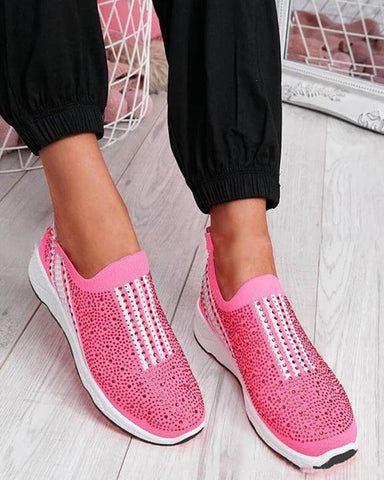 Sports Sequin Flat Sneakers