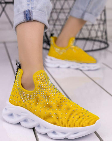 Sequin Breathable Sports Sneakers