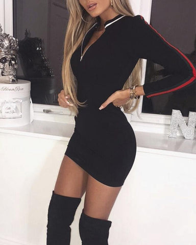 Polo Long Sleeve Mini Dress