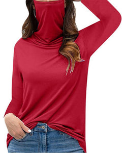 Loose Solid Long Sleeve Blouse