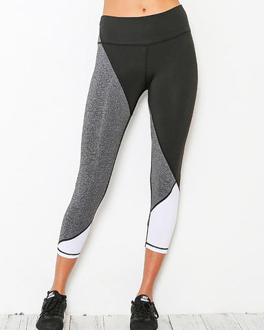 Color Block High Stretchy Yoga Leggings