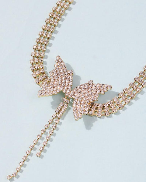 Butterfly Pattern Studded Choker