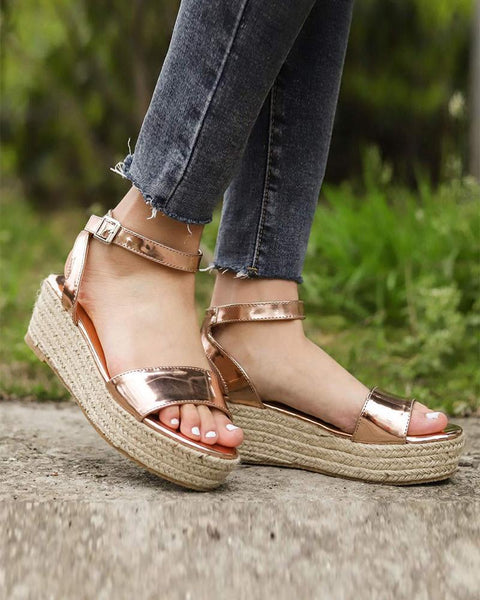 Casual Ankle Strap Platform Sandals