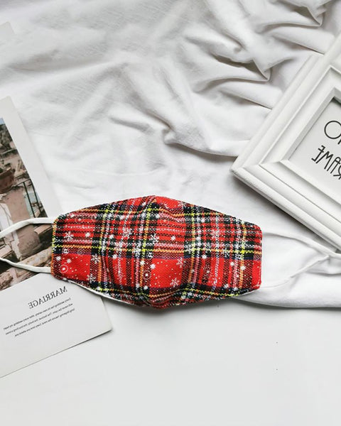 Christmas Plaid Breathable Face Mask