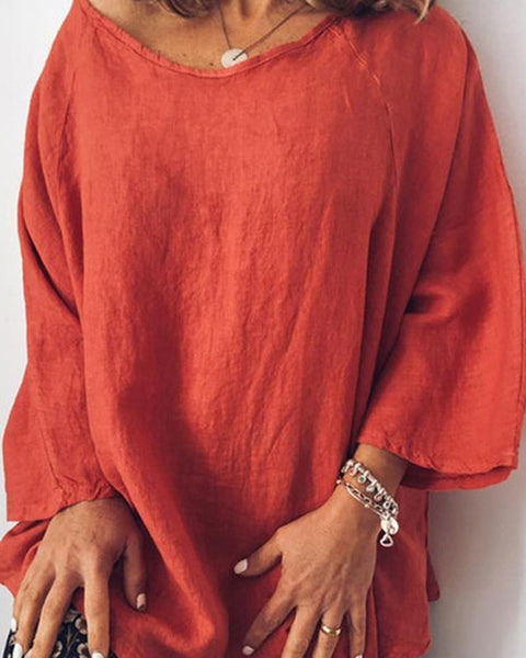 Linen Loose Fit T-Shirt