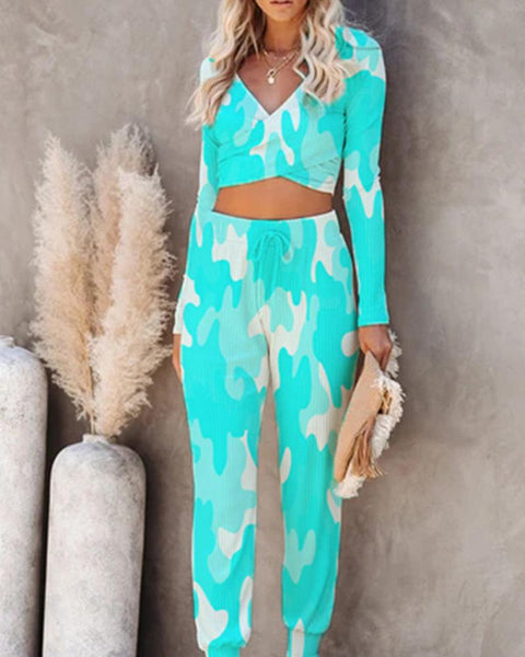 Tie-dye Long Sleeve Suit Sets