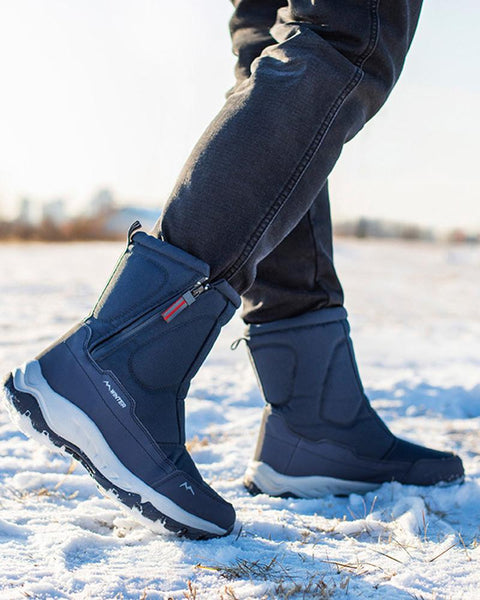 Solid Color Round-toe Snow Boots