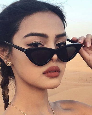 Retro Small Frame Cat Eye Sunglasses
