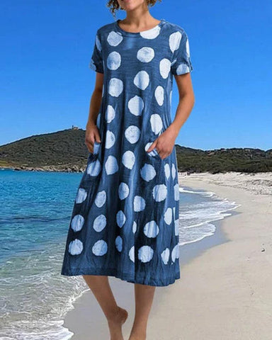 Polka Dot T-Shirt Midi Dress