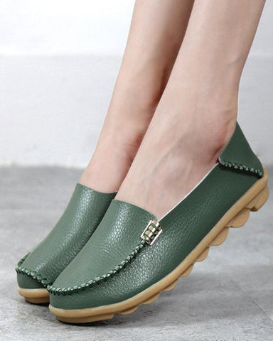 Women Casual Leather Shoes Loafers