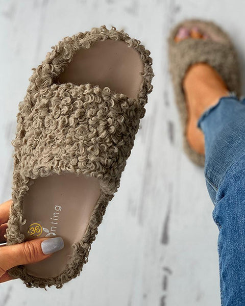 Fluffy Toe Post Casual Slipper