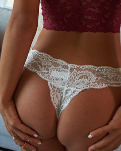 Crochet Lace Thong Panty(S3 & S4 With Bowknot)