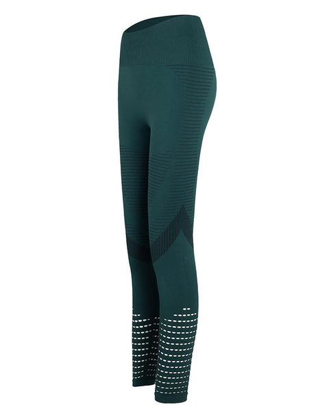 Hollow Out High Waist Sporty Pants