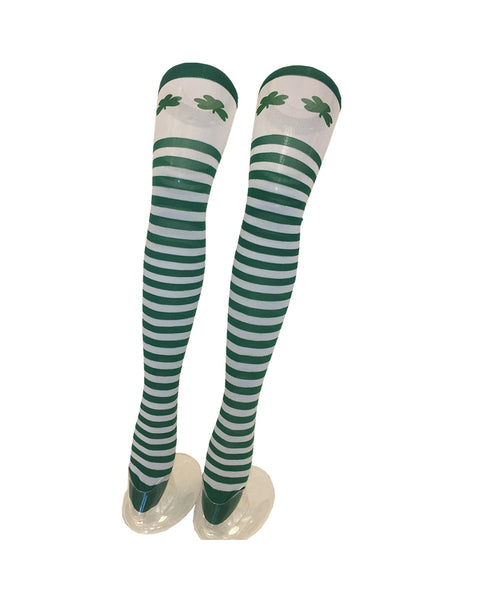 Saint Patrick's Day Striped Over-knee Socks