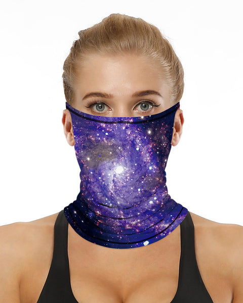 Print Breathable Ear Loop Face Bandana Headwrap