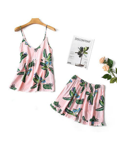 Botanical Print Cami & Shorts Set