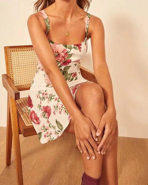 Floral Print Wide Strap Cami Dress