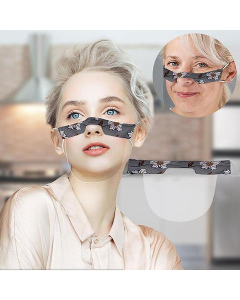 Floral Protective Visible Dust-proof Face Mask