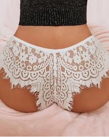 Eyelash Lace Sheer Mesh Panty