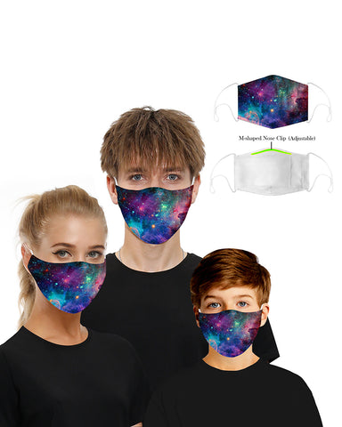 Print Mouth Mask Breathable Washable And Reusable With 2PCS Replaceable Filter