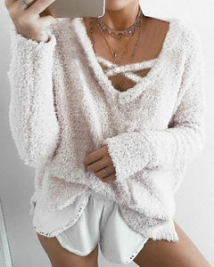 Solid Color Loose Knitting Sweater