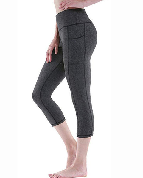 Solid Skinny Yoga Fitness Cropped Pants