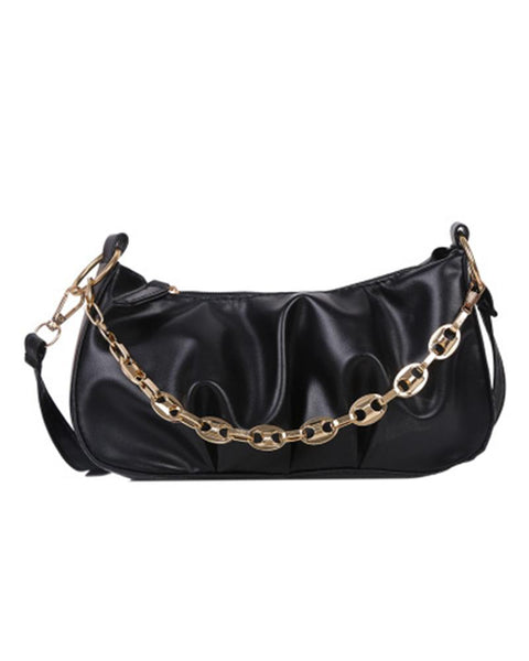 Chic All-match Solid Color Chain Messenger bag