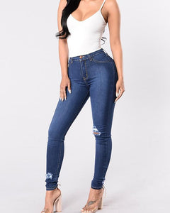 Fashion Ripped High Waist Skinny Denim Pants