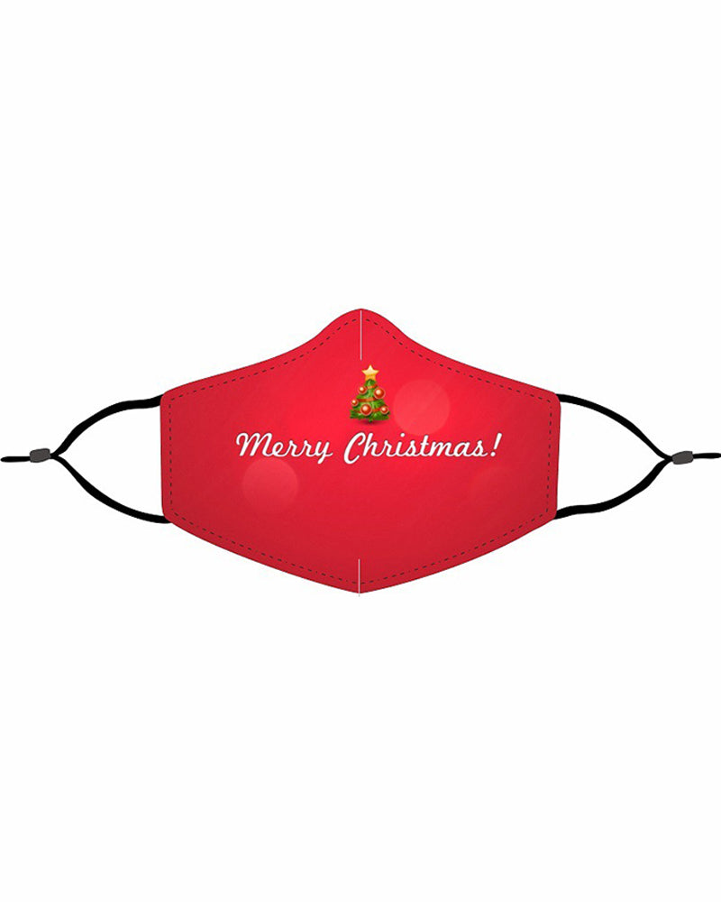 Christmas Print Valve PM 2.5 Face Mask With Filter For Kids