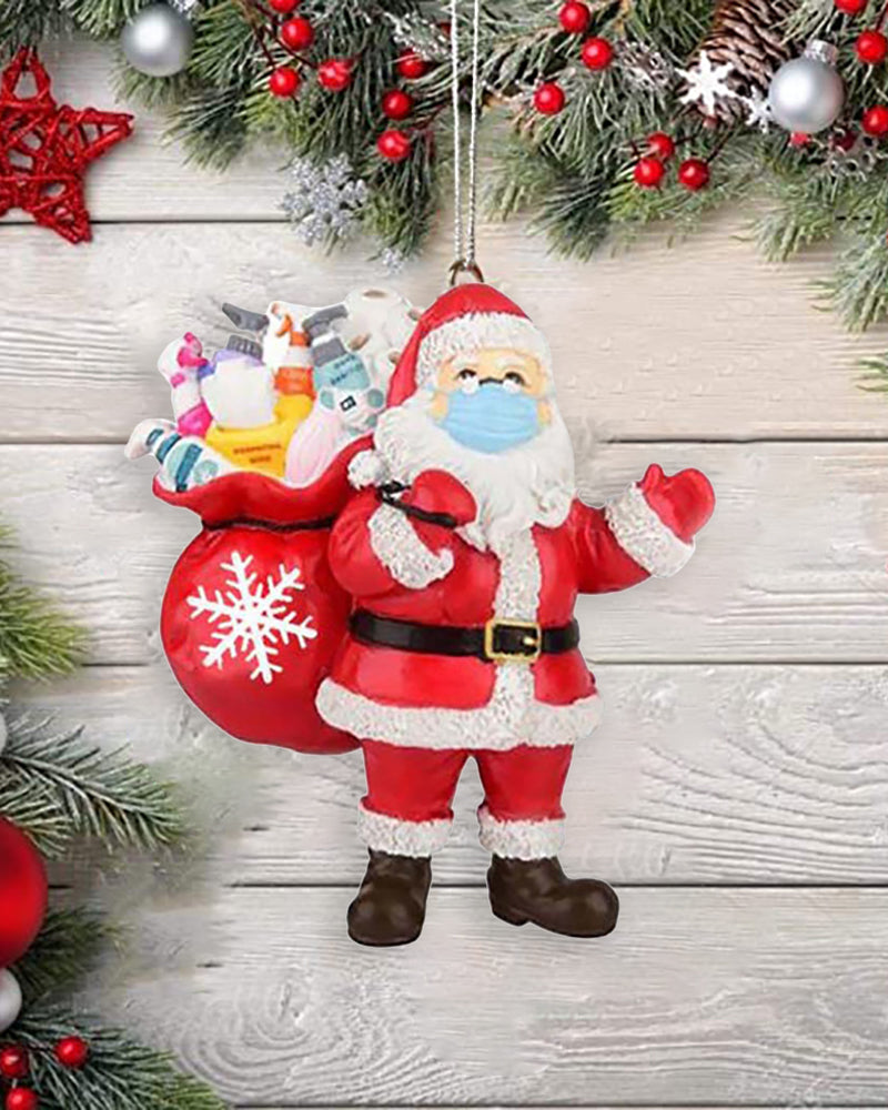 Christmas Santa Claus With Mask On Ornament