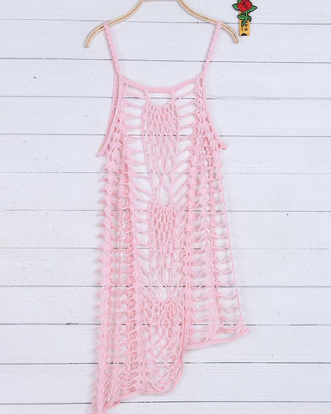Hollow-Out Crochet Summer Beach Cover Up